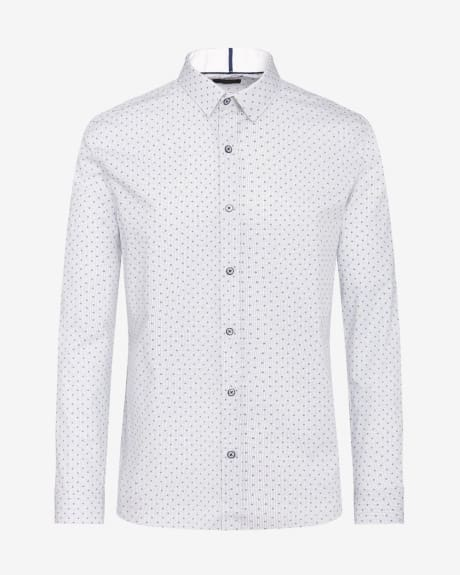 Tailored Fit Check and Print Shirt