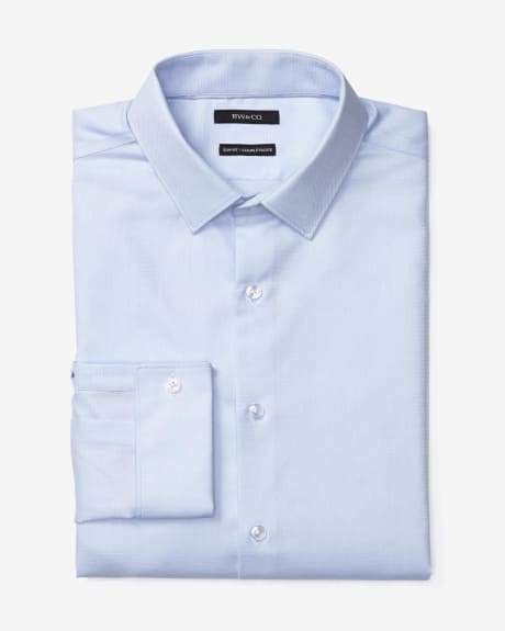 Athletic Fit Dress Shirt in Oxford Blue