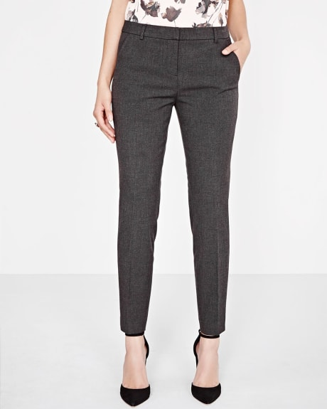 Everyday Stretch Signature Slim leg ankle pant in charcoal grey