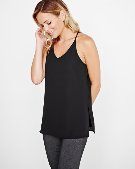 Long racer back tunic cami