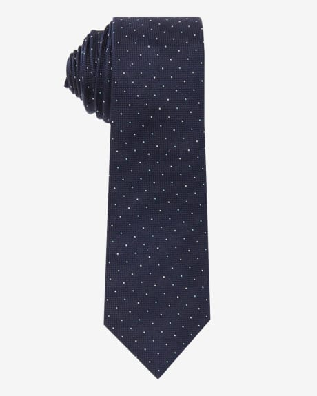 Regular Tie With Dots.Navy.1SIZE