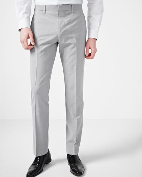 Tailored fit grey traveler pant