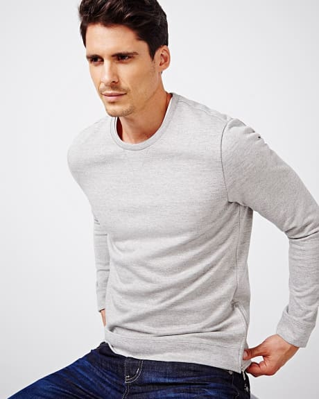 Sweater with side zipper
