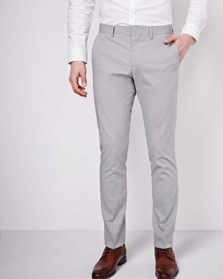 Slim Fit Grey Pant - Regular