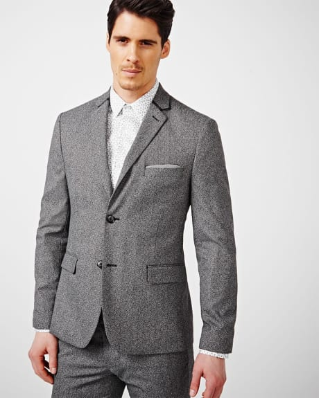 Slim fit twisted yarn blazer - Regular.Fall medium heather grey.44