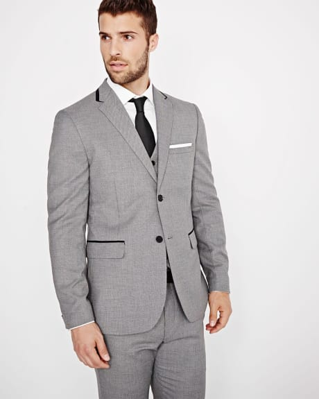 Tailored Fit Salt & Pepper Blazer - Regular