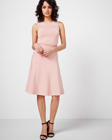 Pointelle Fit and Flare Dress