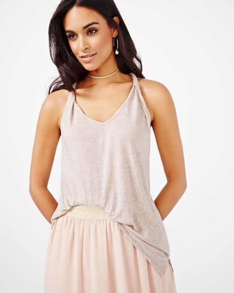 Cami T-Shirt with Twisted Straps