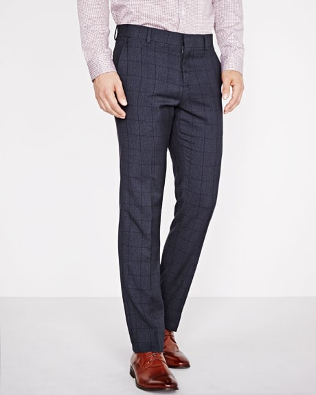 Tailored Fit Windowpane Pant - Regular