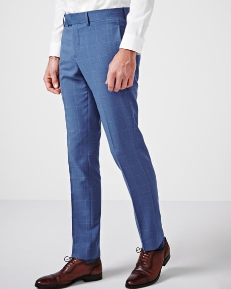 Slim Fit Windowpane Pant - Short