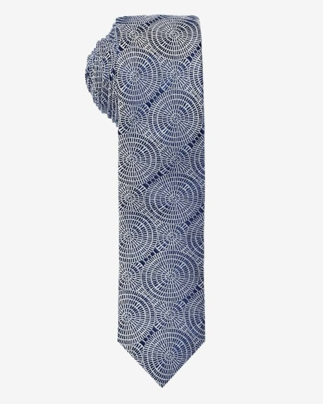 Skinny Printed Tie.Dress blue.1SIZE