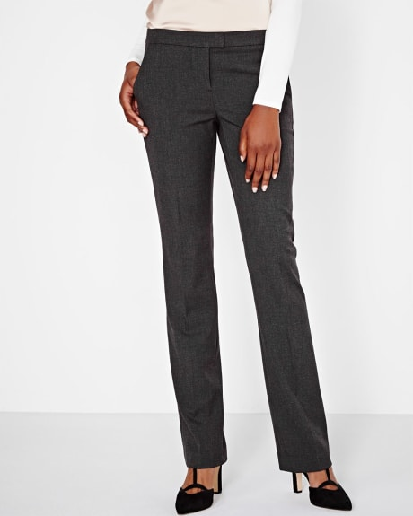 Everyday Stretch Slim Fit Modern Flare Pant in Charcoal Grey