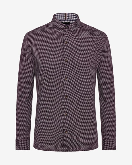 Tailored Fit football print Shirt
