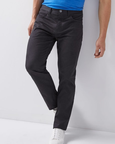 Essential Modern straight 5-pocket pant - 34 inch inseam.Taupe.34/34