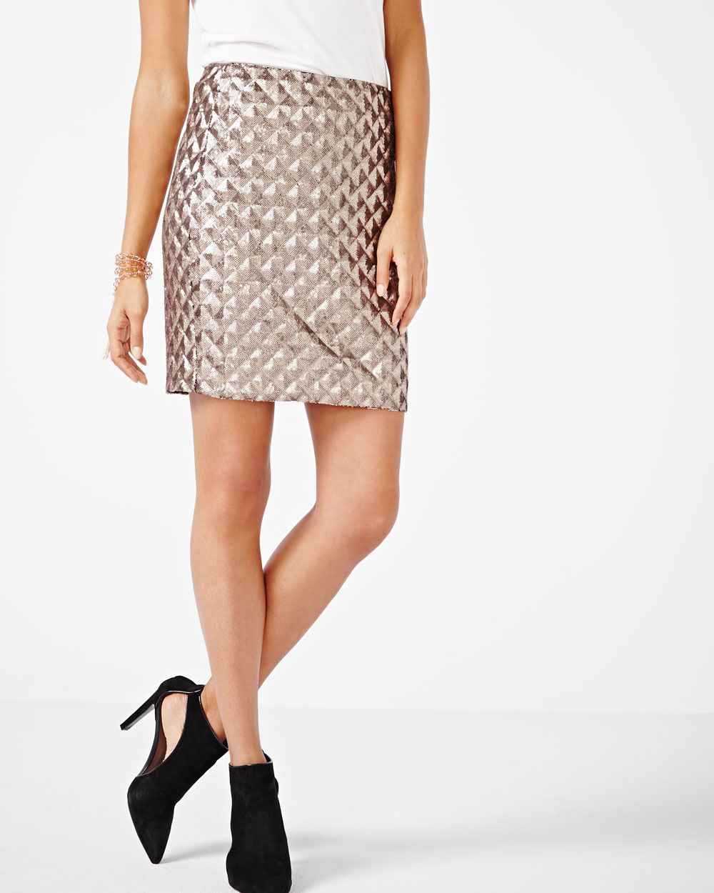 Short sequins skirt | RW&CO.