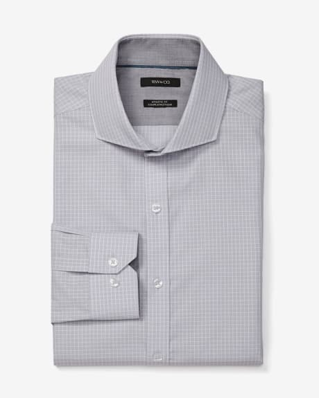 Athletic fit window pane dress shirt