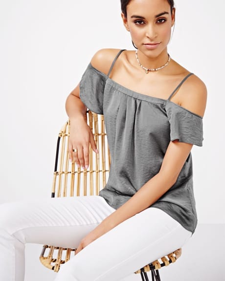 Cold-Shoulder Blouse