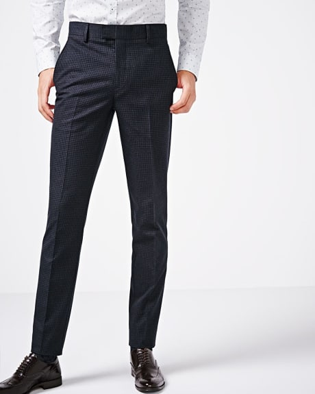 Slim fit mini check pant