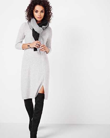 Cashmere-Like Sweater Dress