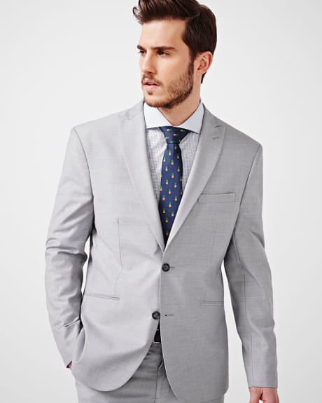 Athletic Fit Sharkskin Blazer