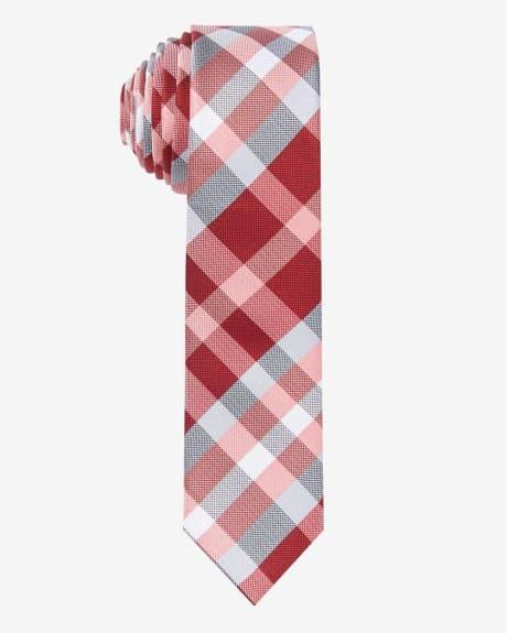Skinny Check Tie.Molten lava.1SIZE