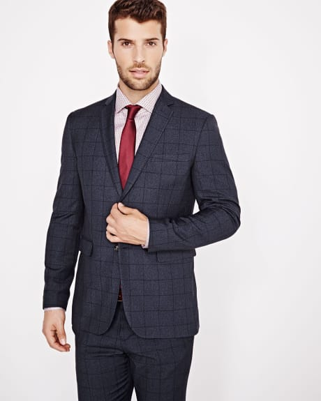 Tailored Fit Windowpane Blazer - Regular