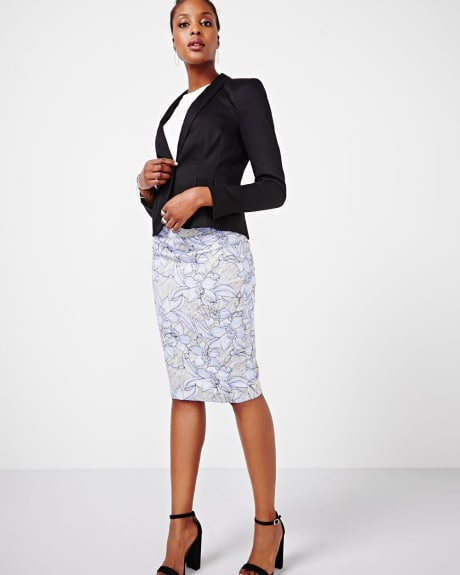Stretch Pique Floral Skirt