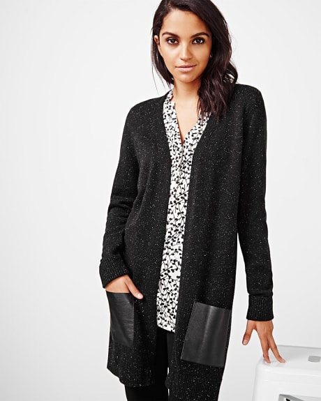 Nep open front cardigan