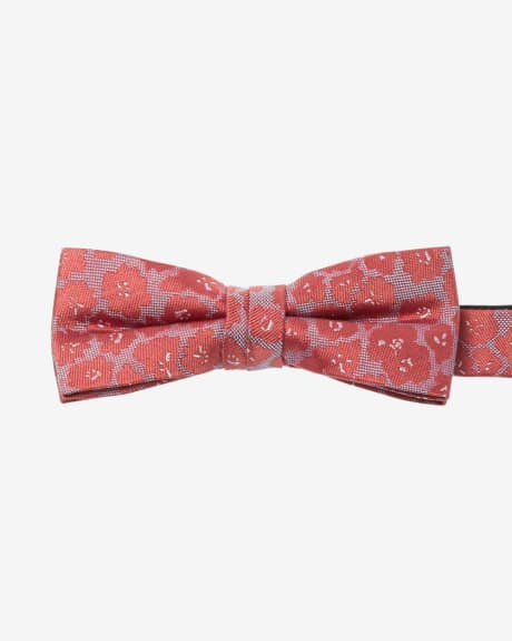 Skinny Bow Tie with Orange Flowers