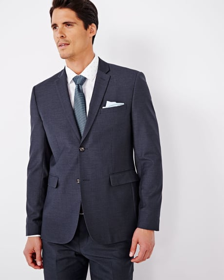 Tailored Fit Purple Blue Blazer - Short