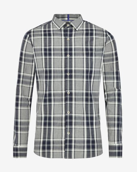 Tailored fit shirt in two colour check