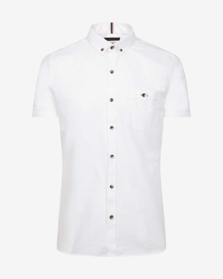 Slim Fit Short Sleeve Oxford Shirt
