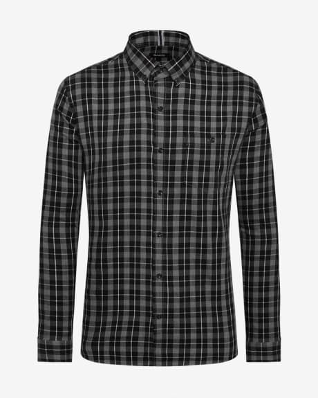 Tailored Fit Twill Check Shirt