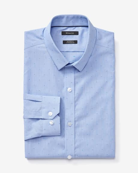 Tailored fit dress shirt with print and stripes