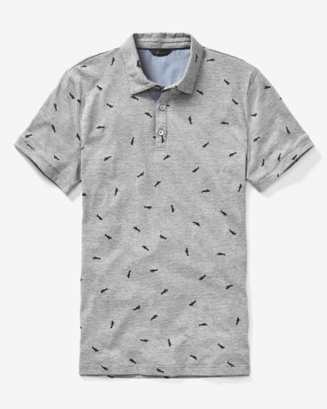 Allover print polo t-shirt