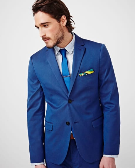 Bright Blue Slim Fit Blazer - Regular