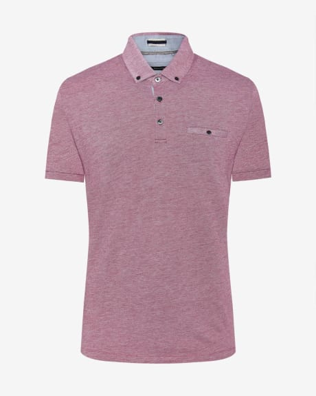 Two-tone pique polo t-shirt