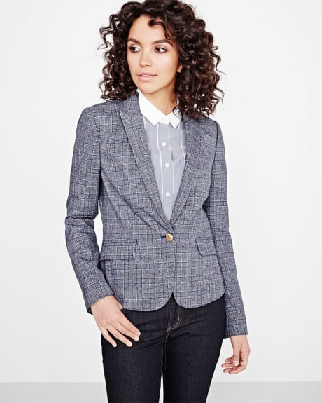 Everyday stretch plaid blazer