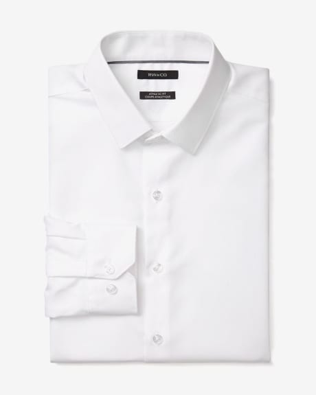 Athletic Fit White Dress Shirt - Short
