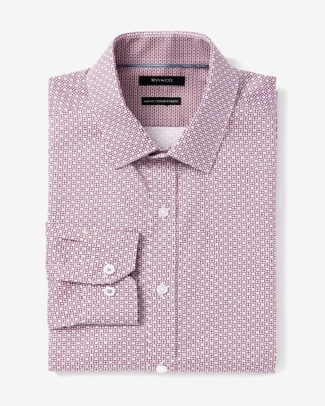 Slim Fit micro motif Dress Shirt