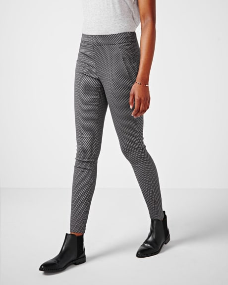 Modern stretch legging in cross pattern