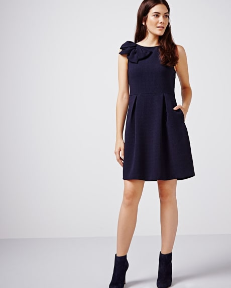 Fit and Flare dress with bow