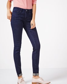 Skinny stretch modal jean in dark blue wash