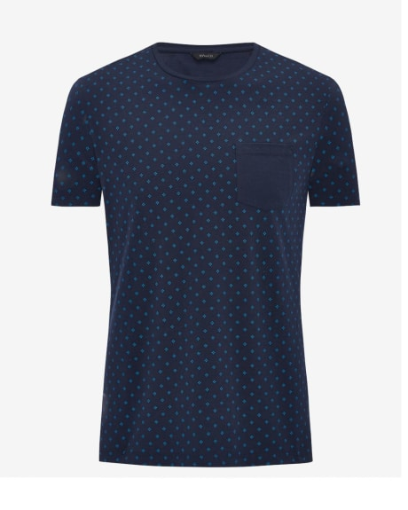 Allover print cotton t-shirt