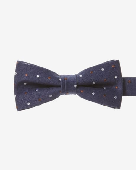 Classic Bow Tie in Two-Tone Dots