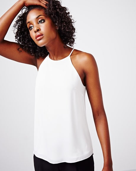 fancy halter cami.Off white.XL