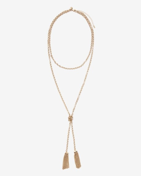Knotted necklace with tassels
