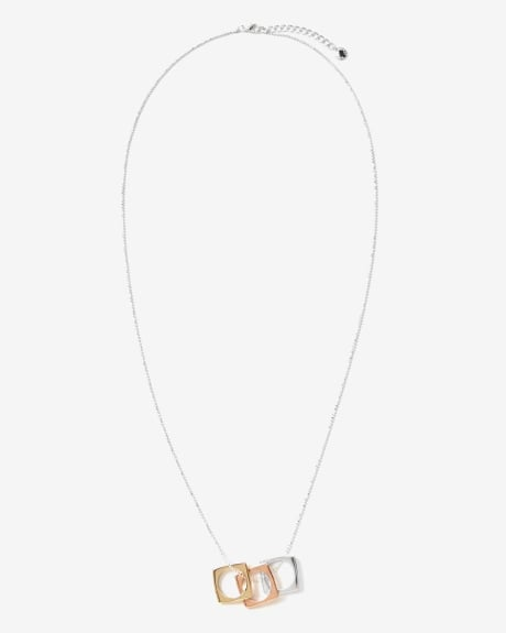 Ballchain necklace with square charms