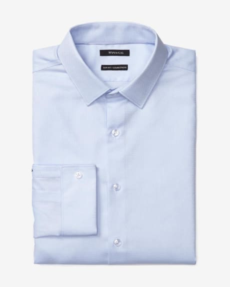 Slim Fit Blue Dress Shirt