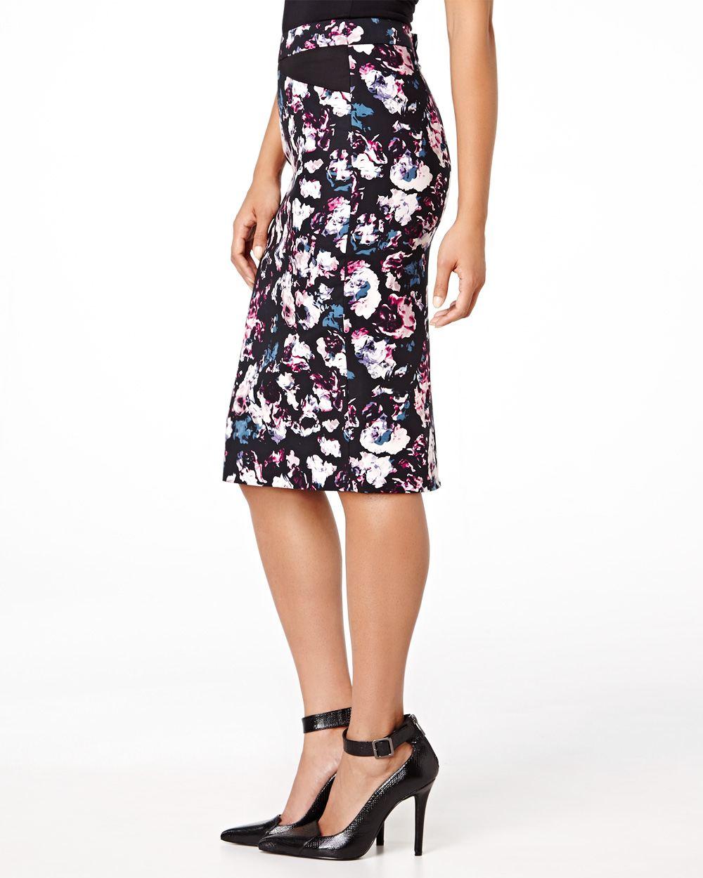 flower print pencil skirt rw co